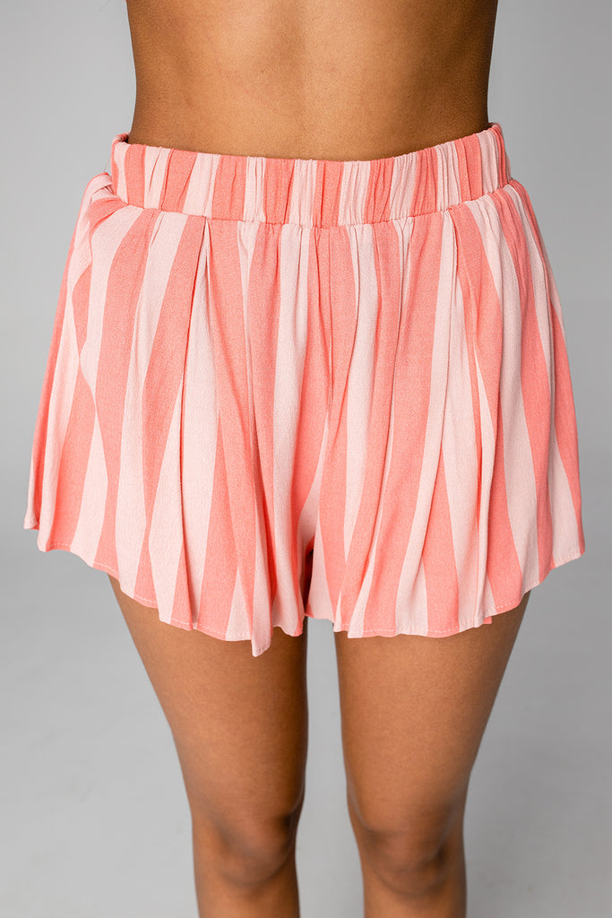 BuddyLove Shirley Elastic High-Waisted Shorts - Bubblegum
