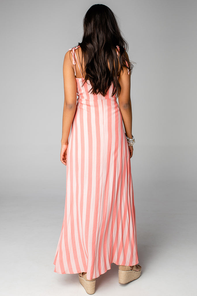 BuddyLove Essex Empire Waist Maxi Dress - Bubblegum