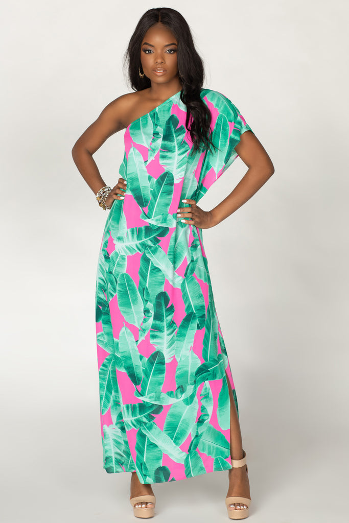 BuddyLove Grace One Shoulder Maxi Dress - Aruba