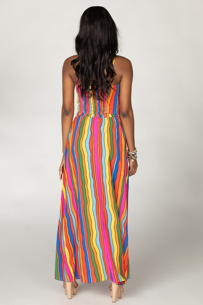 BuddyLove Lawrence High-Waisted Maxi Skirt - Rainbow Bright