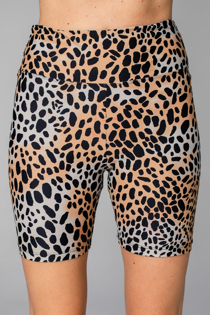 BuddyLove Lauren High-Rise Waist Biker Shorts - Cheetah