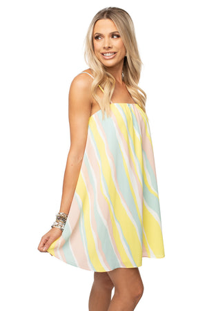 BuddyLove Sandra Swing Mini Dress - Lemonade