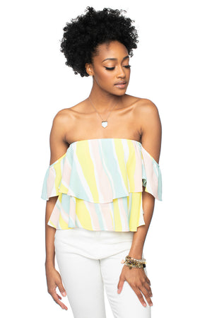BuddyLove Laverne Off the Shoulder Top - Lemonade