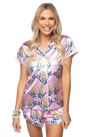 BuddyLove Aurora Silk PJ Set - Jungle Cat