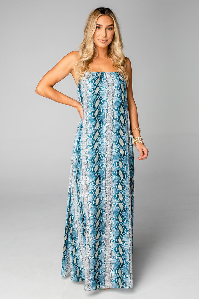 BuddyLove Misha Sleeveless Maxi Dress - Aquamarine
