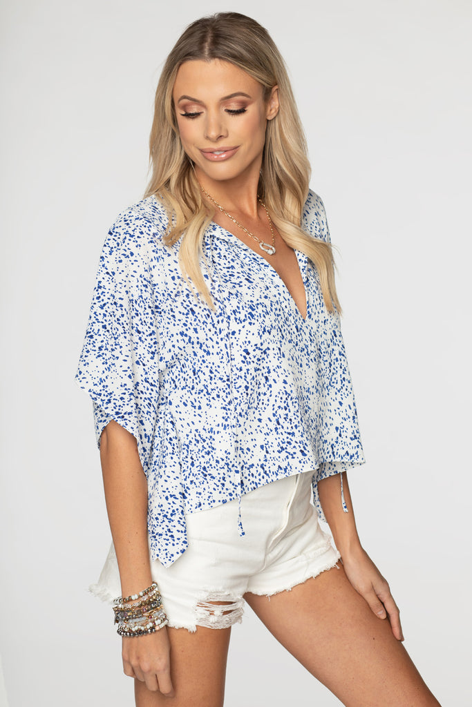 BuddyLove Dave Short Sleeve Swing Top - Spotted