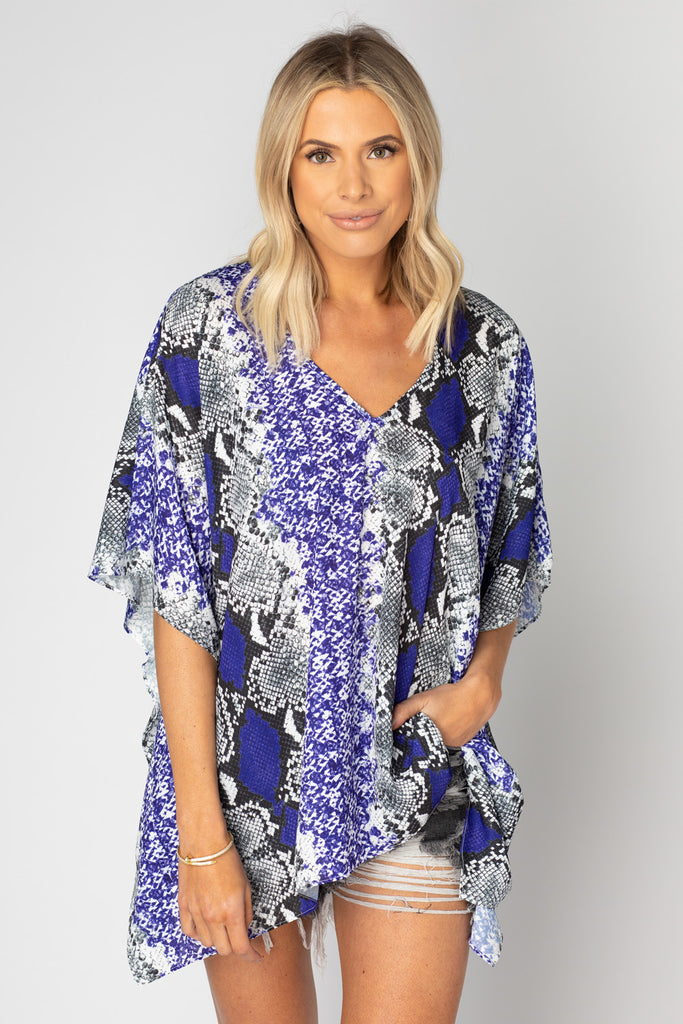 BuddyLove North Tunic - Purple Boa,XS / Purple / Snake Skin