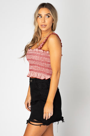 BuddyLove Ashlyn Smocked Crop Top - King