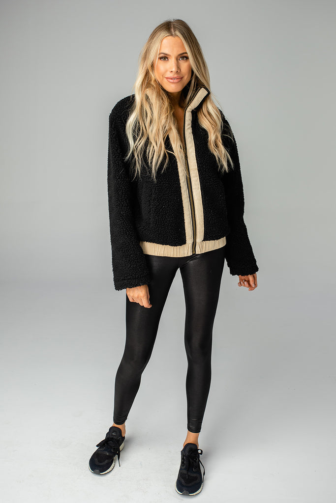 BuddyLove Gloria Fuzzy Jacket - Black