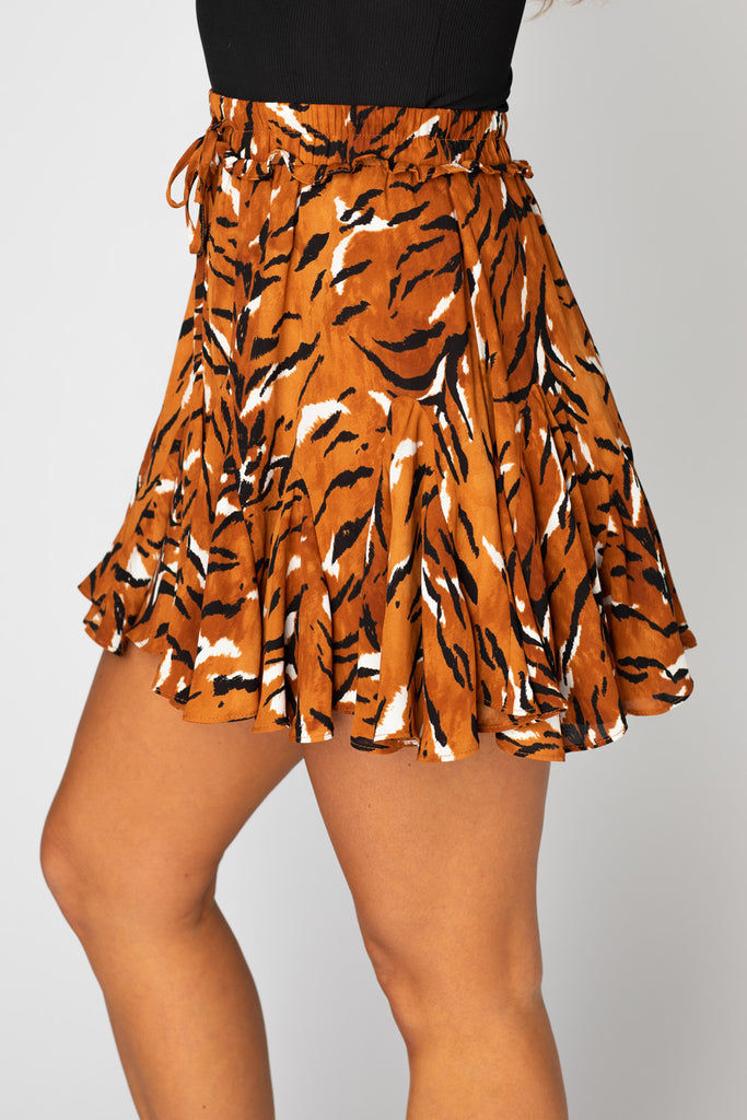 BuddyLove Presley Ruffled Mini Skirt - Raja