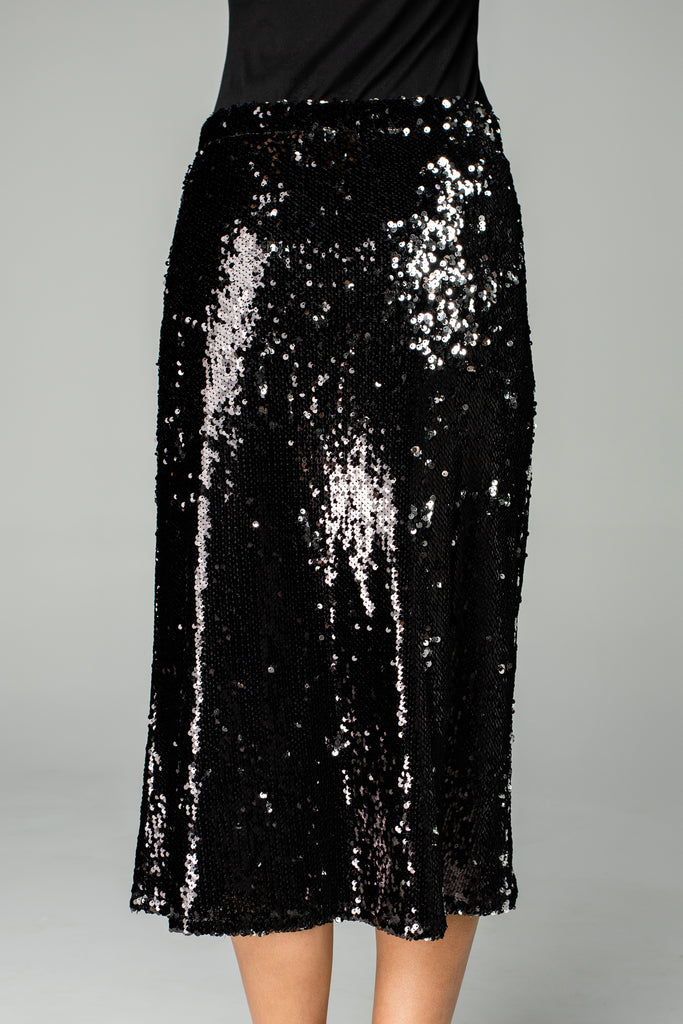 BuddyLove Cardi Sequin Midi Skirt - Black