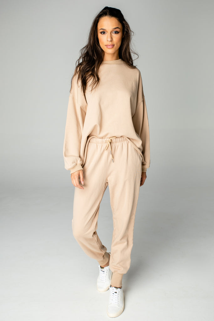 BuddyLove Brooke Sweatsuit Set - Tan