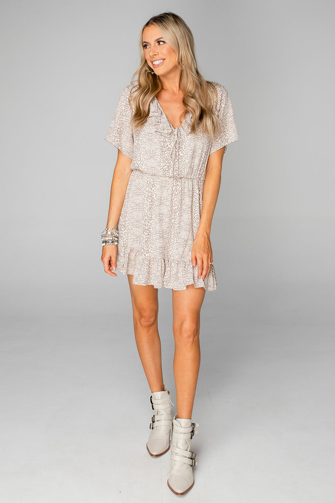 BuddyLove Trixy Ruffled Mini Dress - Foxtrot