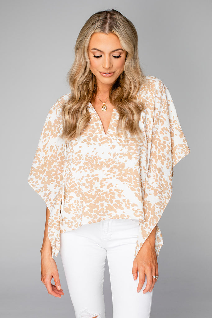 BuddyLove Dave Short Sleeve Swing Top - Cowhide