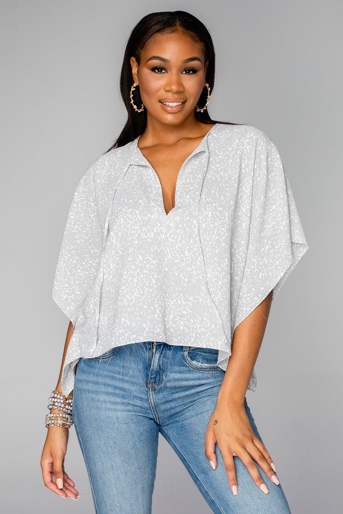 BuddyLove Dave Short Sleeve Swing Top - Rubble