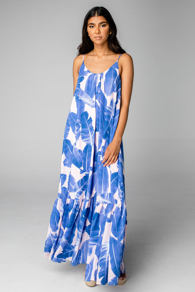 BuddyLove Katey Scooped Neck Maxi Dress - Havana