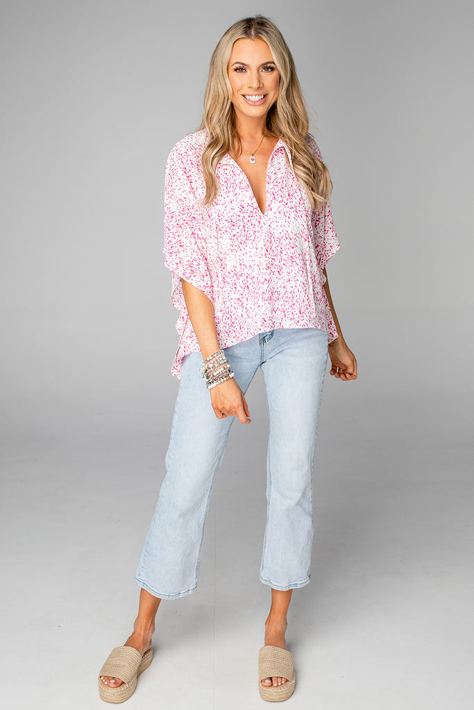 BuddyLove Dave Short Sleeve Swing Top - Primrose