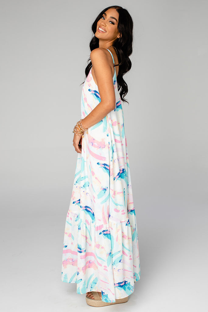 BuddyLove Katey Scooped Neck Maxi Dress - Turks