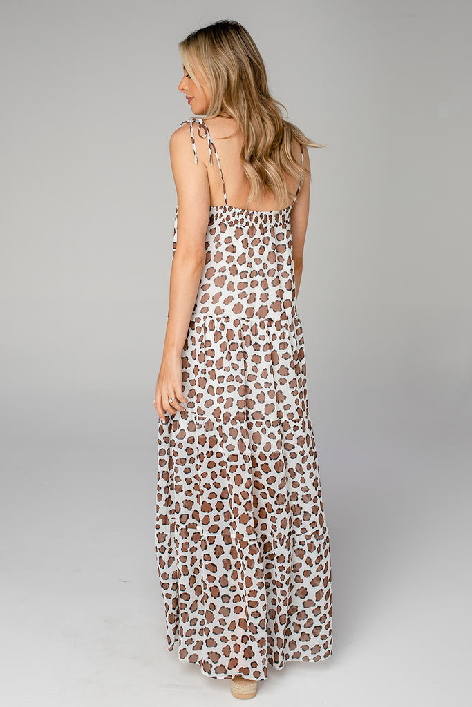 BuddyLove Reese Tie-Shoulder Maxi Dress - Mufasa