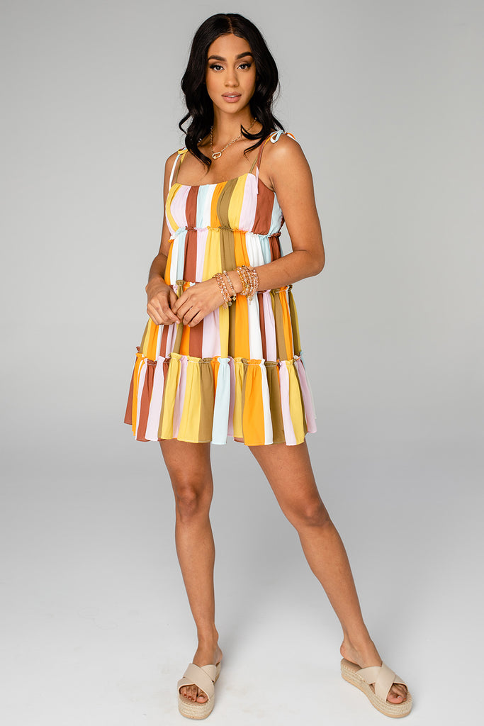 BuddyLove Riley Tiered Mini Dress - Samoa