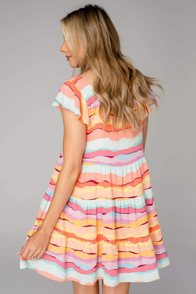 BuddyLove Delilah Baby Doll Dress - Kaleidoscope