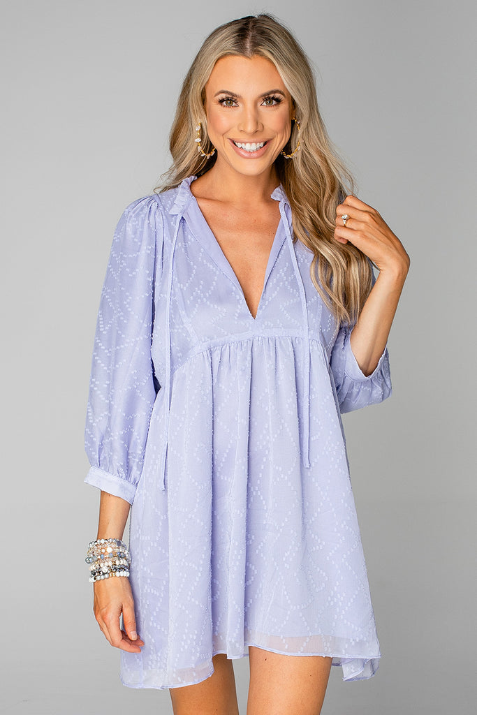 BuddyLove Fiona Baby Doll Dress - Periwinkle