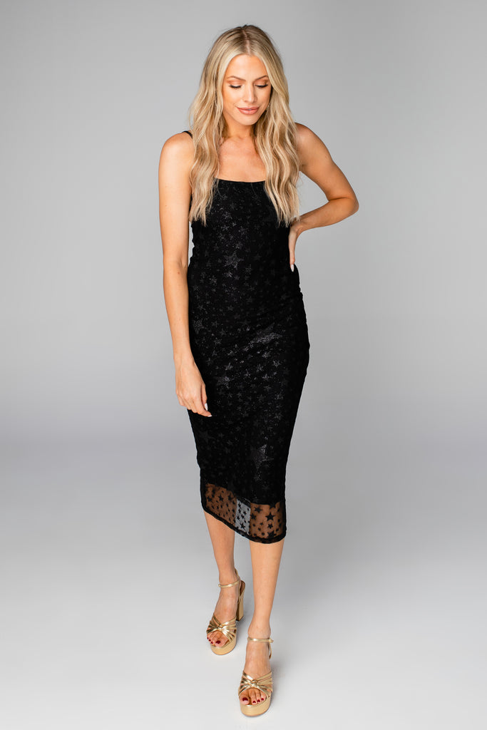BuddyLove Madison Fitted Midi Dress - Twinkle