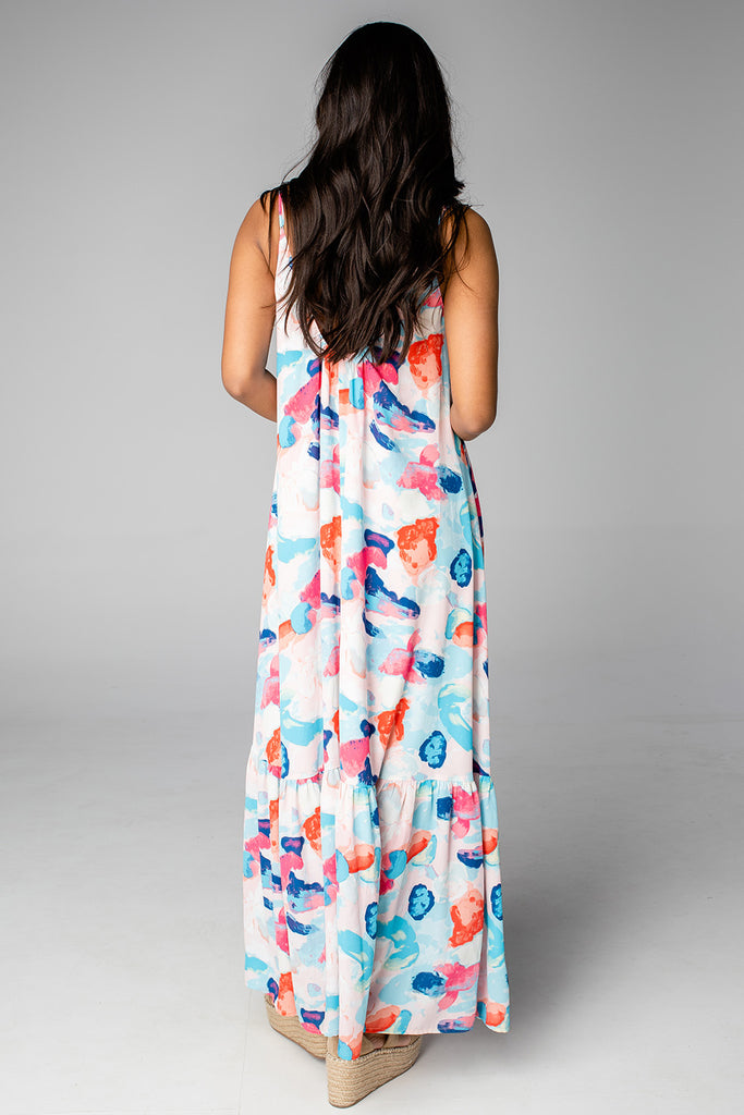 BuddyLove Katey Scooped Neck Maxi Dress - Caicos