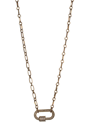 BuddyLove Candy Lock Necklace - Gold