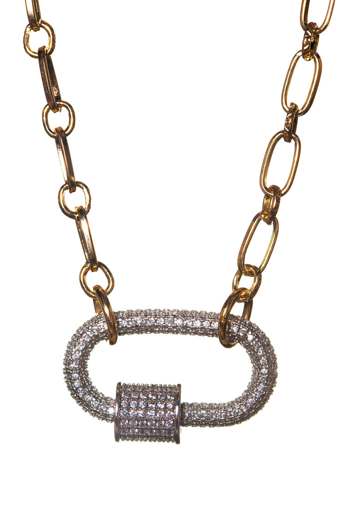 BuddyLove Candy Lock Necklace - Silver,Silver