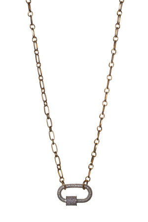 BuddyLove Candy Lock Necklace - Silver