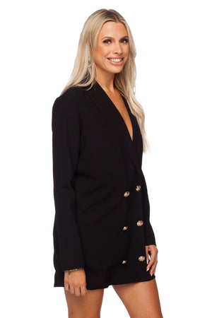 BuddyLove Carey Long Sleeved Short Blazer Dress - Black