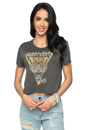 Carole Cropped Graphic Tee BuddyLove Tiger