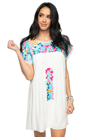 BuddyLove Carolina Embroidered Mini Dress