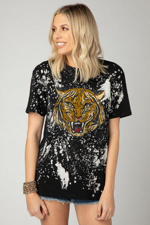 BuddyLove Carr Bleached Graphic Tee - Tiger