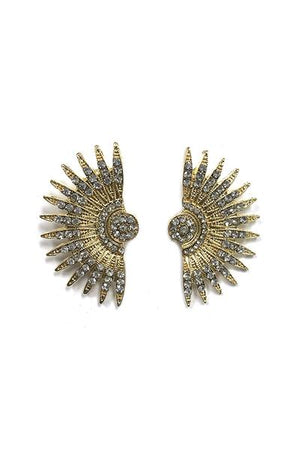 BuddyLove Cassie Stud Earrings Diamond Detail - Gold