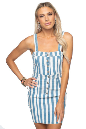 BuddyLove Charlize Denim Dress Blue Stripe