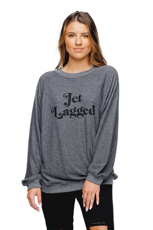 BuddyLove Cody Graphic Loose Fit Sweater Grey - Jet Lagged
