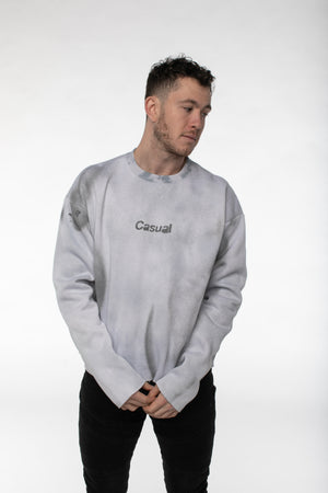 BuddyLove X Casual Graphic Sweater - Custom Grey