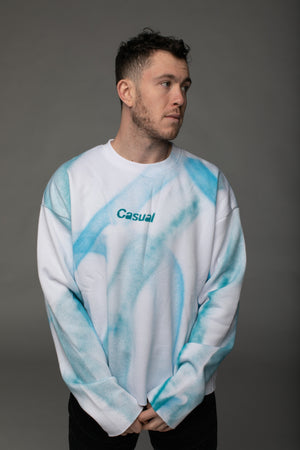 BuddyLove X Casual Graphic Sweater - Custom White