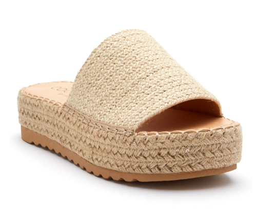 Del Mar Sandal - Natural Raffia,6 / Tan