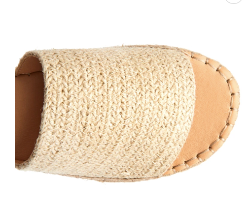 Del Mar Sandal - Natural Raffia