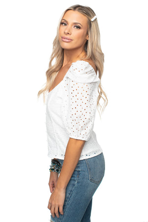 BuddyLove Demi Sweetheart Top - Eyelet