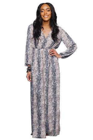 BuddyLove Dolly Elastic Waist Long Sleeved Maxi Dress - Pinky - Buddy Love Clothing Label