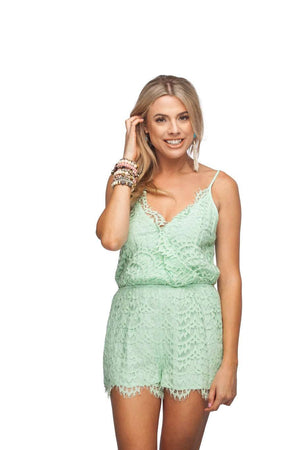 BuddyLove Scarlet Romper - Mint - FINAL SALE - Buddy Love Clothing Label