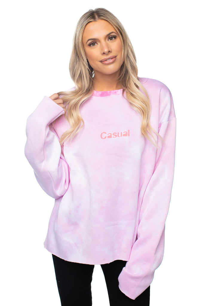 BuddyLove X Casual Graphic Sweater - Flamingo