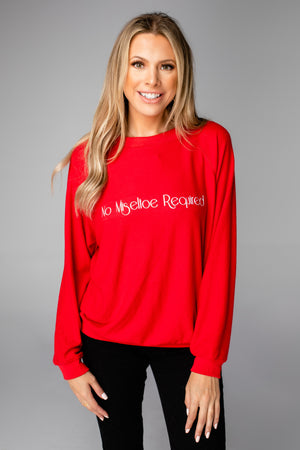 BuddyLove Gene Graphic Sweatshirt - No Mistletoe Required