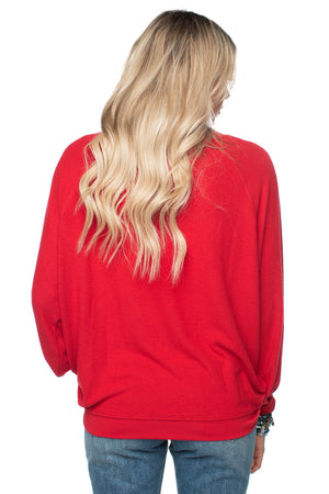 Red Loose Fit Comfortable Soft Top