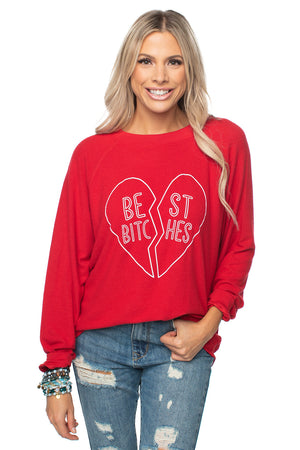Women's Long Sleeve Best Bitches Graphic Shirt