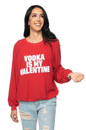 Women's Red Long Sleeve Valentine's Shirt